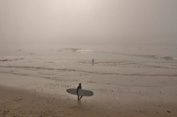 Photograph - Lonely Surfer by Marilyn MacCrakin