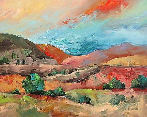 Fauve Painting - Lonely Trail by Linda Monfort
