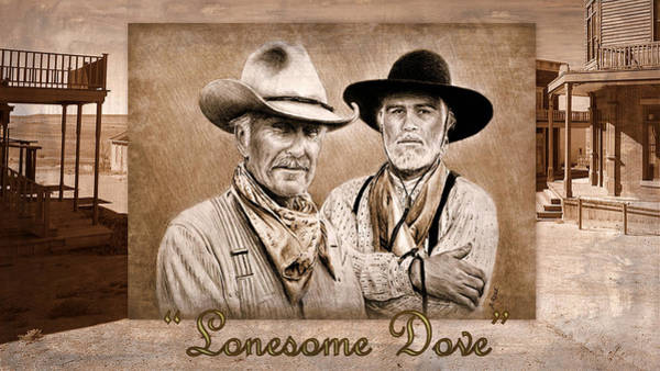 Gus Wall Art - Painting - Lonesome Dove by Andrew Read