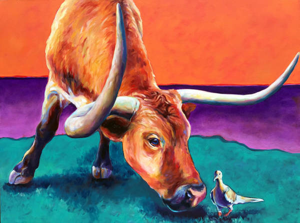 Longhorn Painting - Lonesome Dove by Robert Pankey
