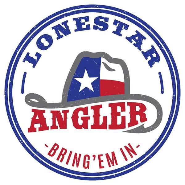 Lone Digital Art - Lonestar Angler by Kevin Putman