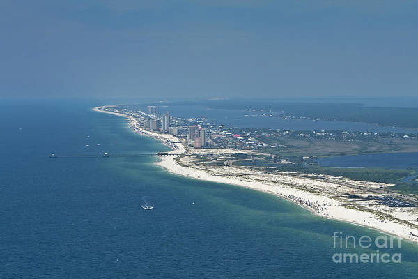 Photograph - Long, Aerial, Beach View by Gulf Coast Aerials -
