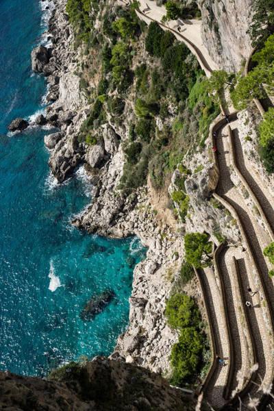 Photograph - Long And Twisted Walk To The Shore - Azure Magic Of Capri by Georgia Mizuleva