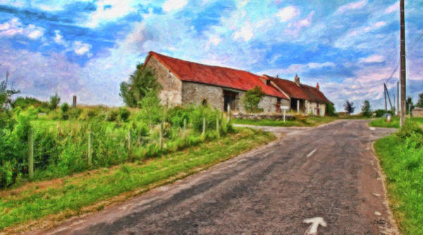 Painting - Long Barns Near Avincey - P4a16016 by Dean Wittle