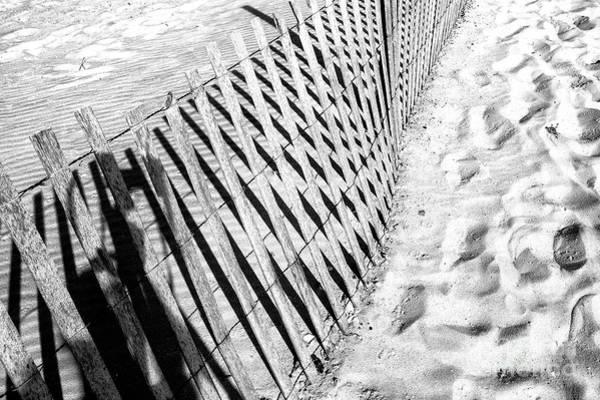 Wall Art - Photograph - Long Beach Island Dune Fence Angles by John Rizzuto