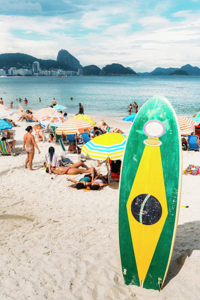 Photograph - Long Board With Brazilian Flag by Alexandre Rotenberg