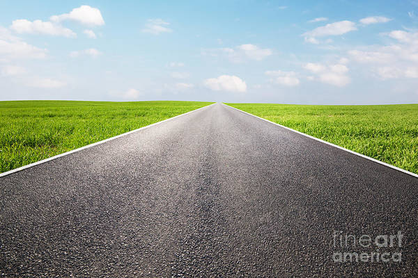 Straight Ahead Wall Art - Photograph - Long Empty Straight Road by Michal Bednarek