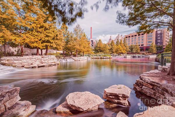 Photograph - Long Exposure Photograph Of The San Antonio River Pearl River And Hotel Emma - San Antonio Texas by Silvio Ligutti