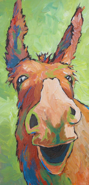 Horse Head Painting - Long Face by Sandy Tracey