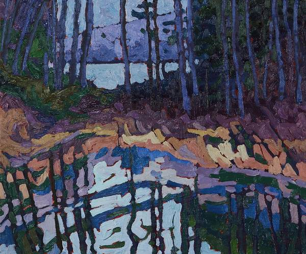 Long Shadow Painting - Long Lake Marsh Forest by Phil Chadwick