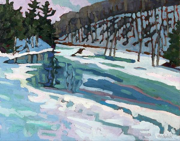 Wall Art - Painting - Long Lake Outlet by Phil Chadwick