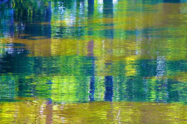 Photograph - Long Lake Reflections Are Abstract by Polly Castor