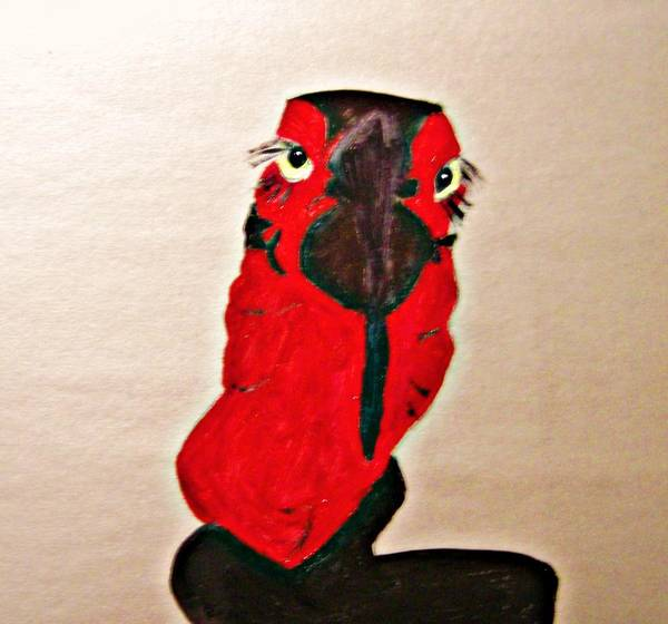 Hornbill Painting - Long Lashes by Michela Akers