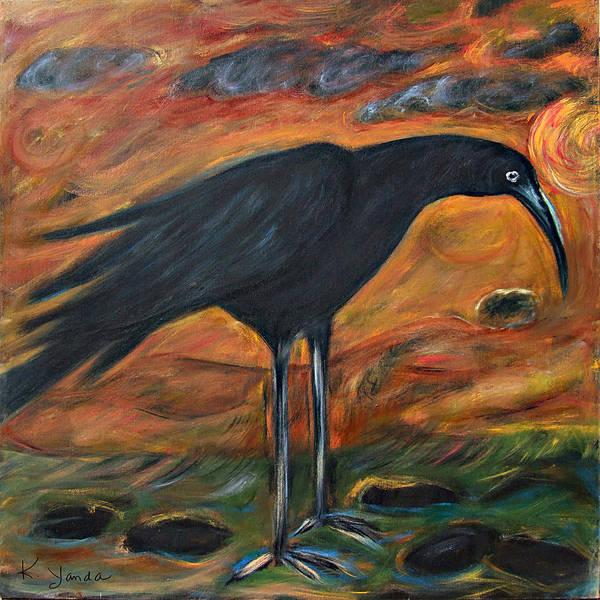 Painting - Long Legged Crow by Katt Yanda