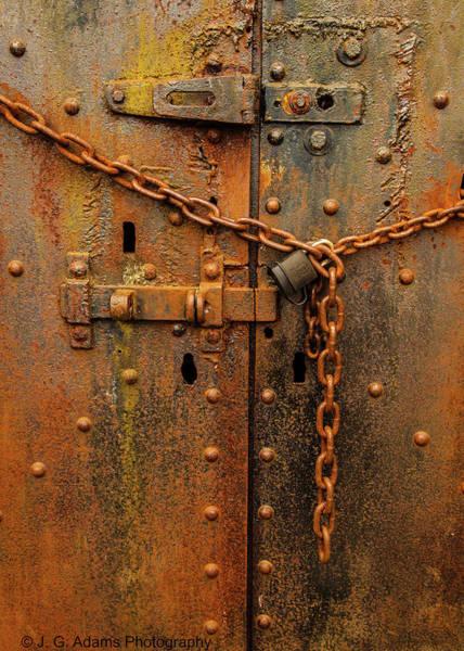 Photograph - Long Locked Iron Door by Jim Adams