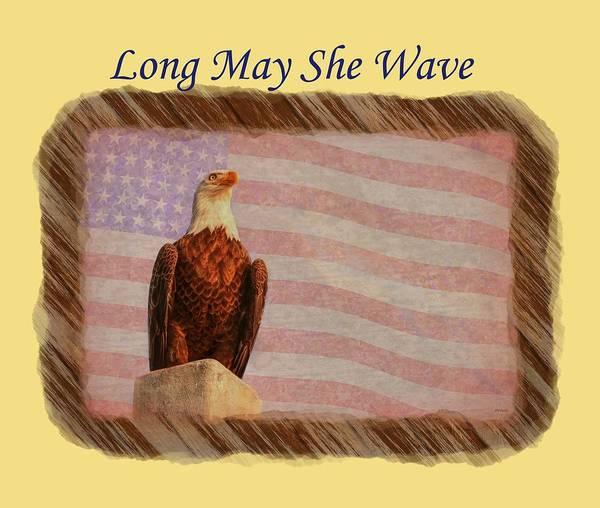 Photograph - Long May She Wave by John M Bailey