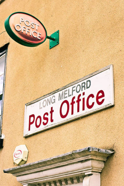Wall Art - Photograph - Long Melford Post  Office by Tom Gowanlock
