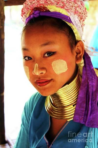 Chang Mai Wall Art - Photograph - Long Neck Girl by Vilkas Pilkas