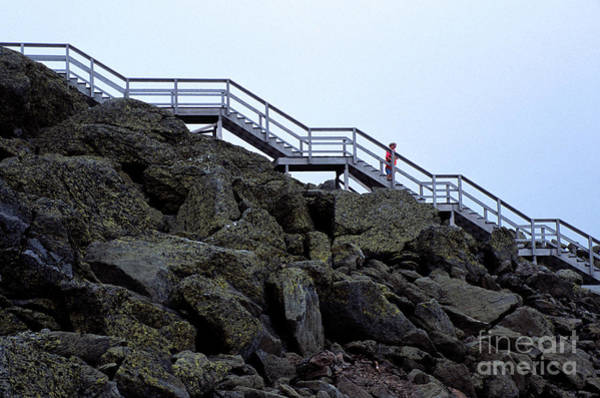 Wall Art - Photograph - Long Open Stairway On Mount Washington In New Hampshire by William Kuta