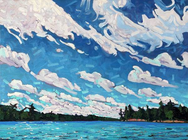 Stratocumulus Painting - Long Reach Cold Front by Phil Chadwick