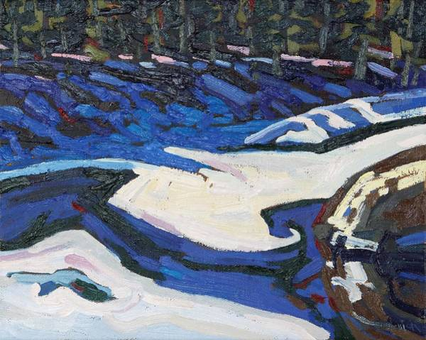 Long Shadow Painting - Long Reach Ice by Phil Chadwick
