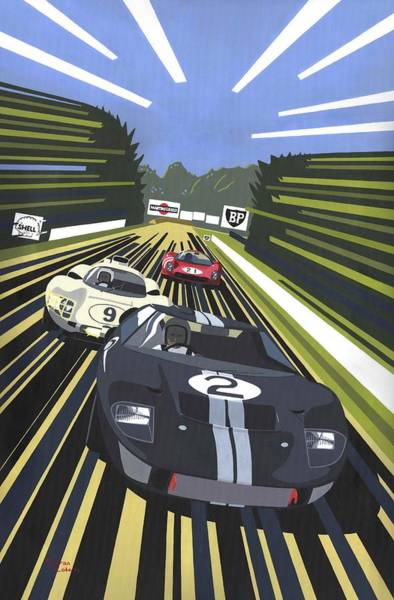 Le Mans 24 Painting - Long Road To Victory by Kieran Roberts