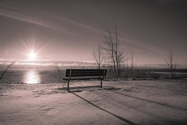 Photograph - Long Shadows In The Snow by James Meyer