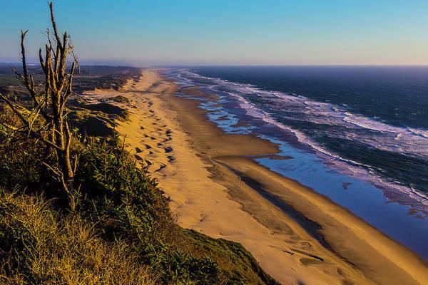 Oregon Dunes Photograph - Long Strech Of Oregon Beach by Garry Gay
