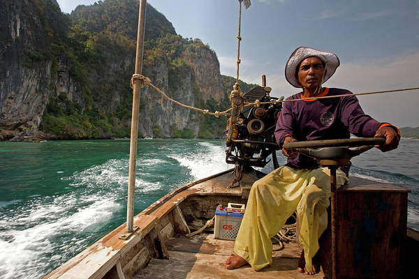 Photograph - Long-tail Boatman, Phi-phi Don Island by Aivar Mikko