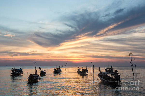 Photograph - Long Tail Boats In Koh Lanta In South Thailand by Didier Marti