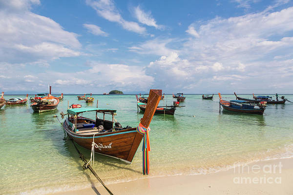 Photograph - Long Tail Boats In Koh Lipe, Thailand by Didier Marti