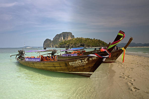 Photograph - Long-tail Boats, Tup Island by Aivar Mikko