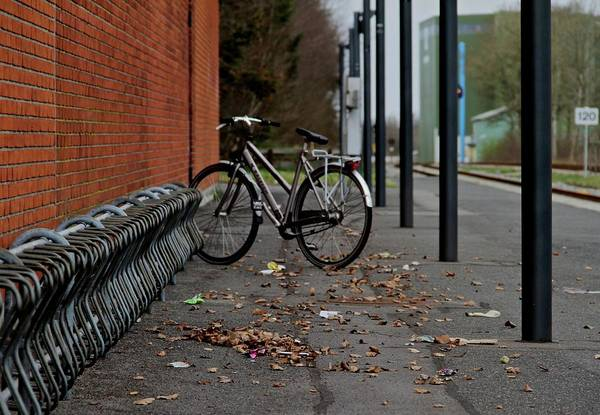Bicycle Rack Photograph - Long Term Parking by Odd Jeppesen