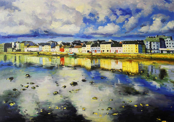 Wall Art - Painting - Long Walk Reflections, Galway by Conor McGuire