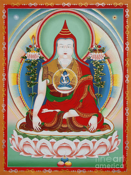 Mural Painting - Longchenpa by Sergey Noskov