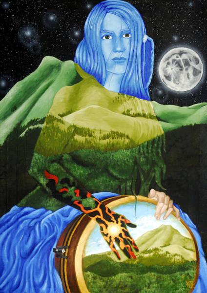 Djembe Wall Art - Painting - Longdance by Kevin Baker