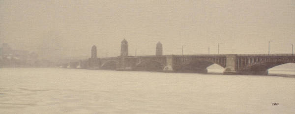 Painting - Longfellow Bridge Bos286884 by Dean Wittle