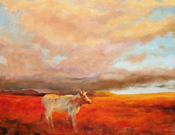 Longhorn Painting - Longhorn by Margaret Aycock