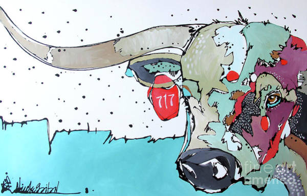 Painting - Longhorn No. 717 by Nicole Gaitan