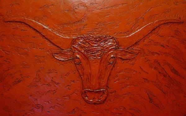 Painting - Longhorn by Sandy Dusek