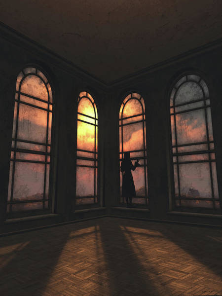 Victorian House Digital Art - Longing by Cynthia Decker