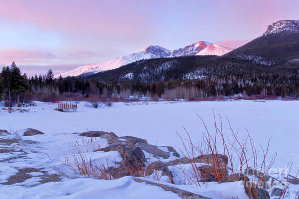 Wall Art - Photograph - Long's Peak And Lily Lake Sunrise In Estes Park, Colorado by Ronda Kimbrow