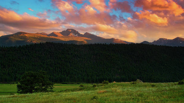 Photograph - Longs Peak At Sunset by John De Bord