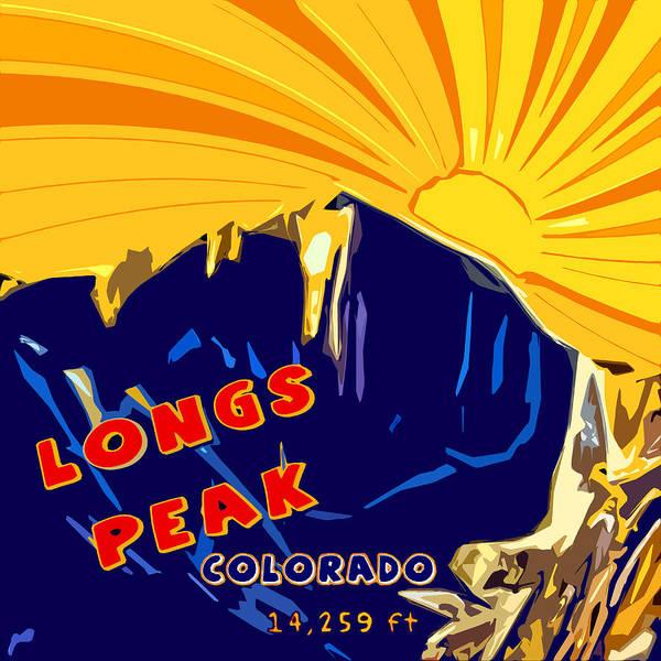 Wall Art - Digital Art - Longs Peak by David G Paul