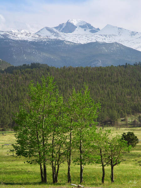 Wall Art - Photograph - Longs Peak From Moraine Park - Spring by Aaron Spong
