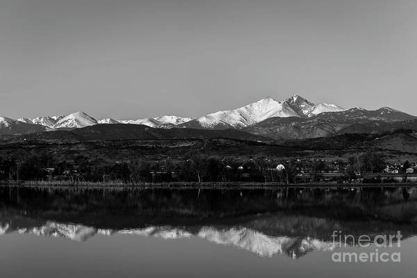 Photograph - Longs Peak In The Mirror by Jon Burch Photography