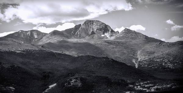 Photograph - Longs Peak Panorama Black And White by Dan Sproul