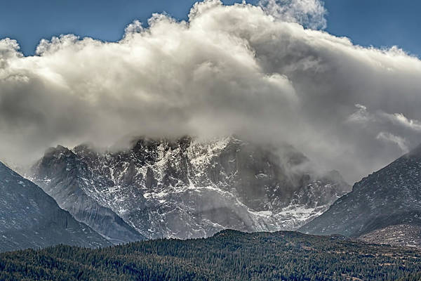 Photograph - Longs Peak Snowstorm by Susan Rissi Tregoning