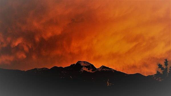 Photograph - Longs Peak Sunset by Tranquil Light Photography