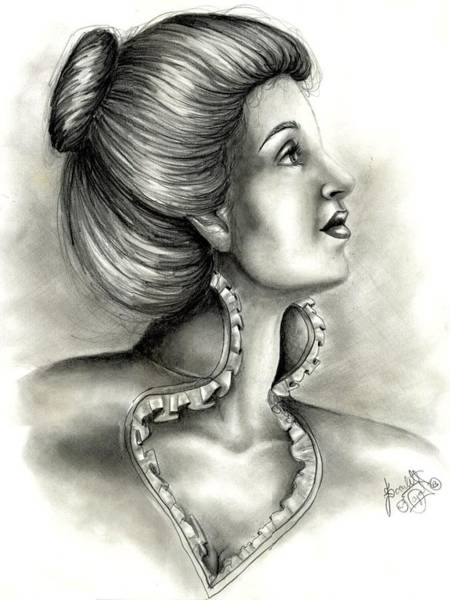 Yourself Drawing - Look Above Yourself by Scarlett Royal